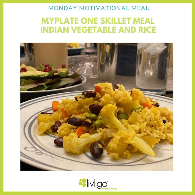 MyPlate Indian Vegetable and Rice Skillet Meal