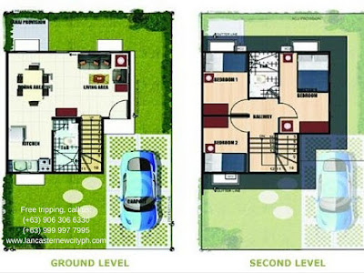Gabrielle Single Attached House in Lancaster New City Cavite Floor Plan