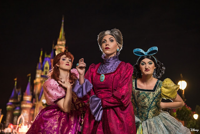 Magic Kingdom Park 2020 Disney Villains After Hours, Anastasia Tremaine, Lady Tremaine Drizella, Tremaine
