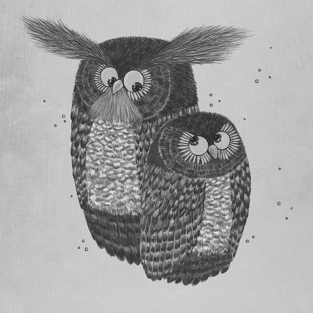 11-Owls-Rohan-Sharad-Dahotre-Eclectic-Illustration-Styles-and-Exotic-Animals-www-designstack-co