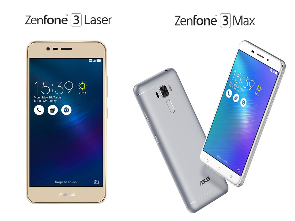 ASUS Philippines Zenfone 3 series - Zenfone 3 Laser and Zenfone Max