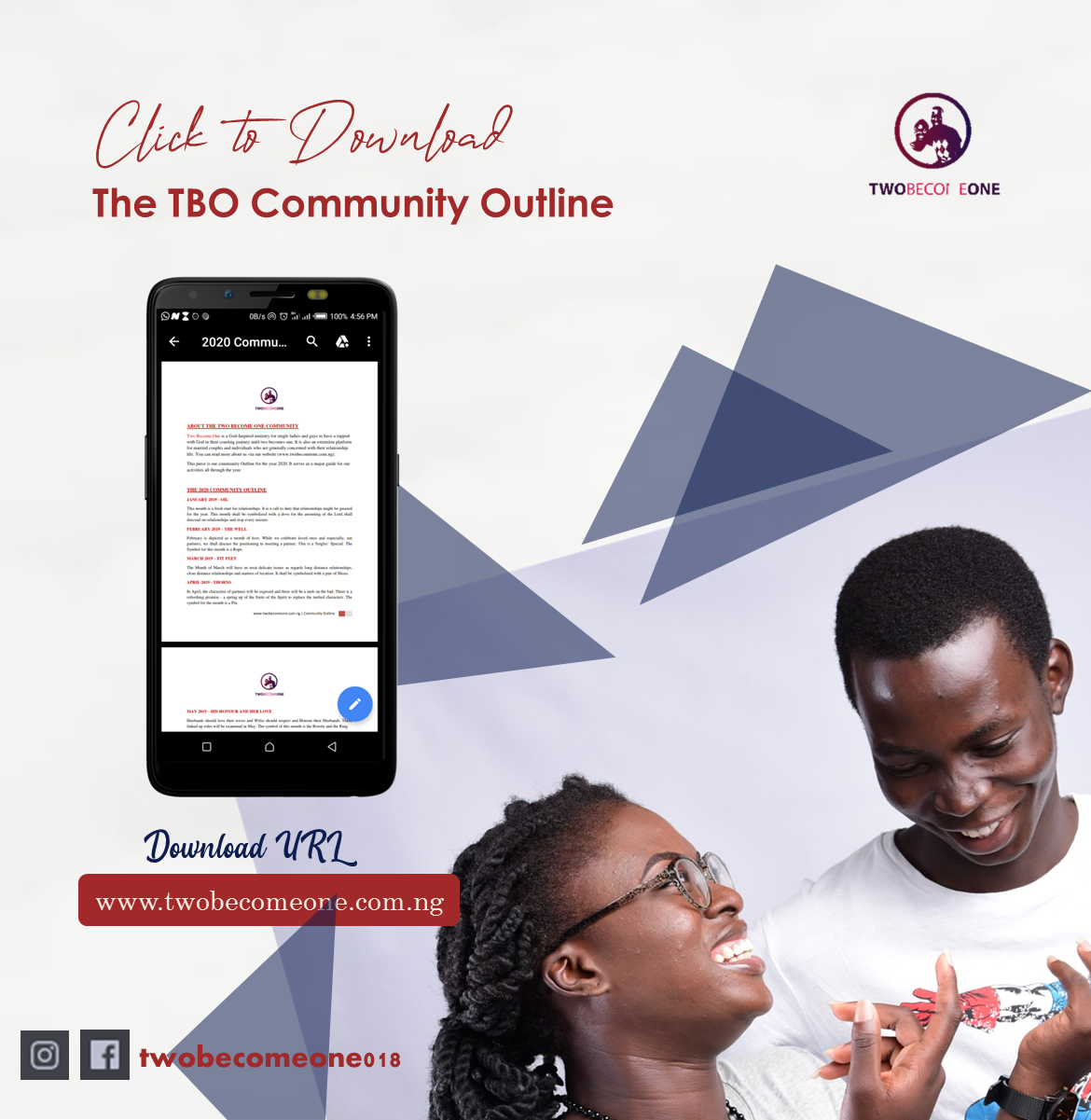 Download the Two Become One 2020 Community Outline