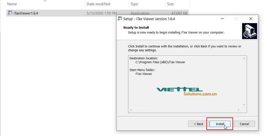 Hình 4 - Bắt đầu cài đặt iTax Viewer 1.6.4