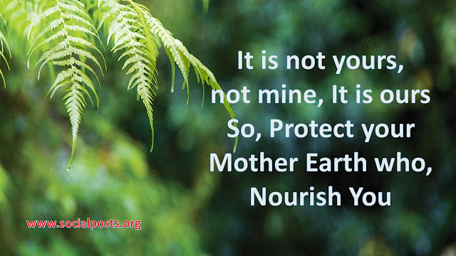 Slogan On Save Environment