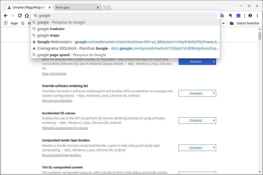 Como usar o novo visual do google chrome material 2 diolinux o configurao do chrome stopboris Gallery