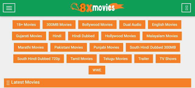 8xfilms Hollywood Dubbed in Hindi, Bollywood Movies Download & New Domain Link
