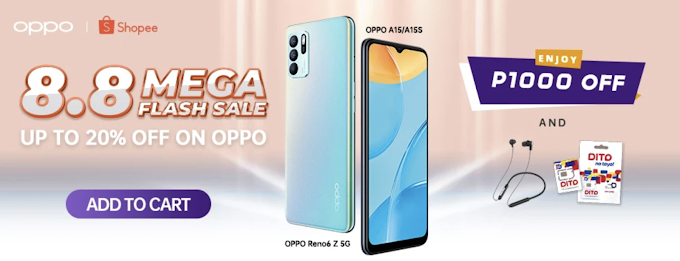 Good deals and discount coming this 8.8 for OPPO's Shopee Super Brand Day Sale!