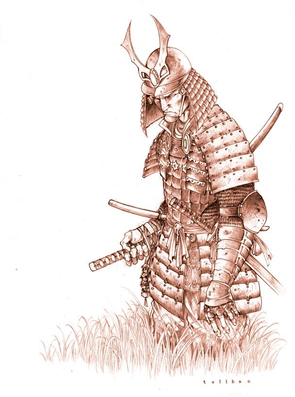 Warriors In Art  Samurai Warrior By Harvey Tolibao