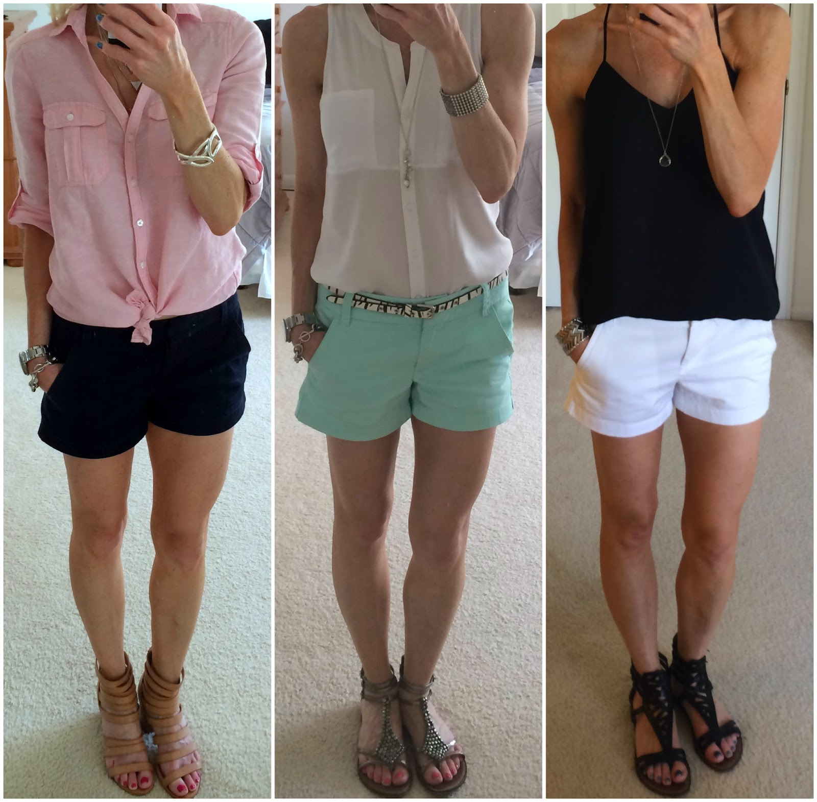 "J Crew, J Crew Factory 3"" Chino Shorts Style Options"