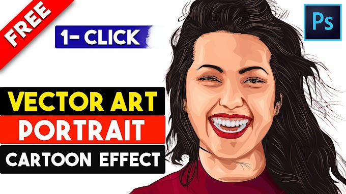 1 Click Magic Vector Art Cartoon Effect Free Photoshop Actions by Shazim Creations