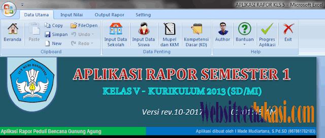 Aplikasi Raport SD/MI K13 Revisi 2018
