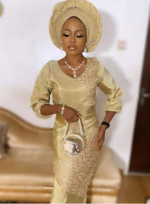 Champagne Gold Colour Lace Styles for Ladies