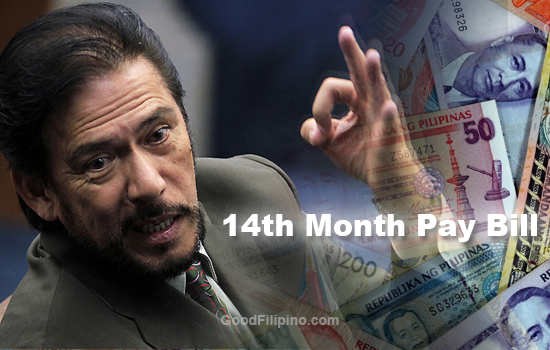 Sen. Sotto filed bill that requires '14th month pay' for private companies