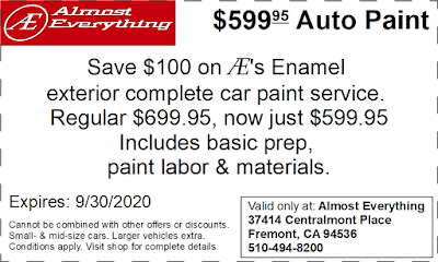 Coupon $599.95 Auto Paint Sale September 2020
