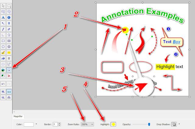 تكبير جزء من الصورة عبر برنامج للكمبيوتر