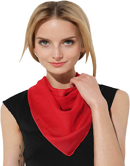 Red Chiffon Neck Scarves