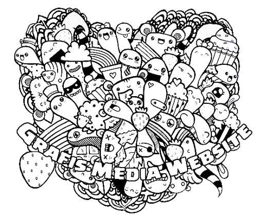 8 Gambar doodle art bentuk love keren  GRAFIS  MEDIA