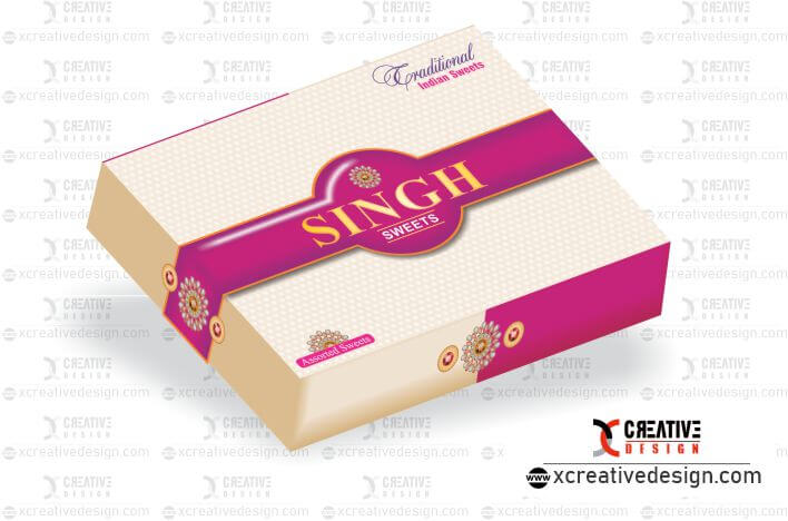 Indian sweet and mithai box designs