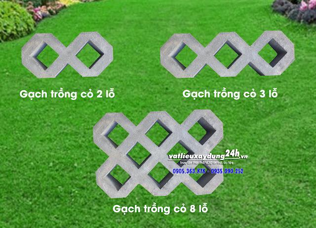Chủng loại gạch block trồng cỏ