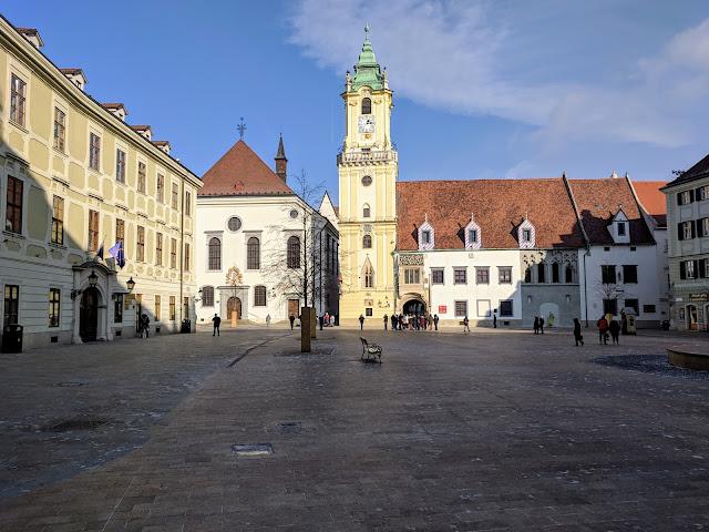 Old Town Bratislava in January