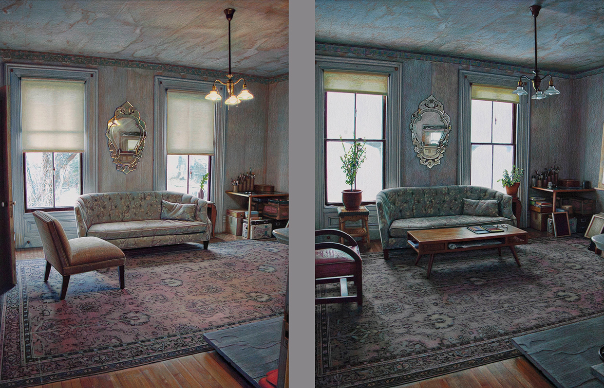 02-Berkshire-Eric-Green-Capturing-Time-with-Colored-Pencil-Drawings-on-Diptychs-www-designstack-co