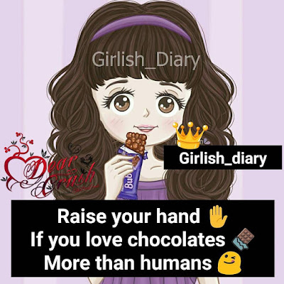 Raise your hand If you love chocolates More than humans