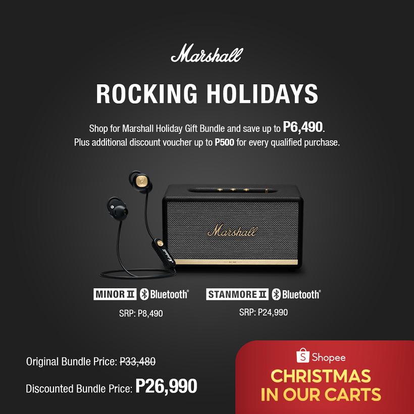 Marshall Rocking Holiday: Enjoy up to P6,490 OFF on Shopee Marshall Holiday Gift Bundle