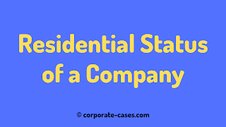 residential status of company in india