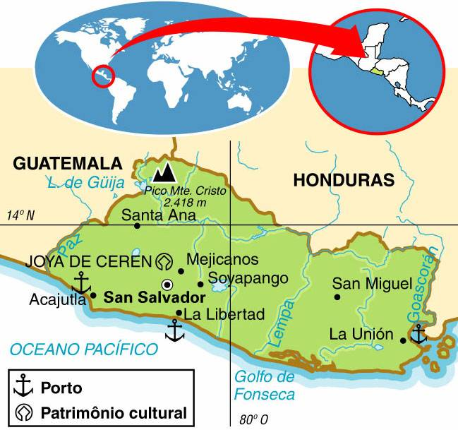 El Salvador, Aspectos Geográficos e Socioeconômicos de El Salvador