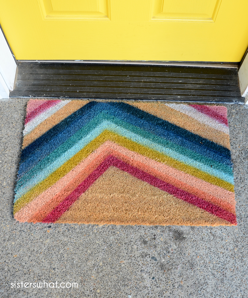 diy colorful modern doormat