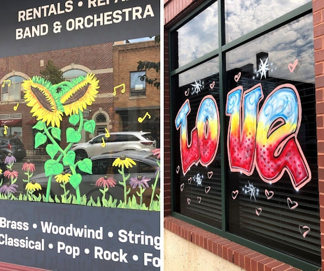 "Celebrating Local Art and Local Business during Wheaton's ""Love Where You Live"" Window Art Event"