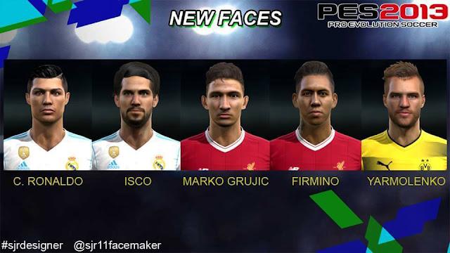 Big Facepack Convert PES - New face hair cristiano ronaldo pes 2013