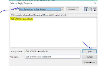User template in File system
