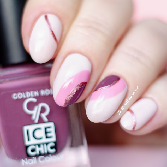 Golden Rose Ice Chic geometric mani