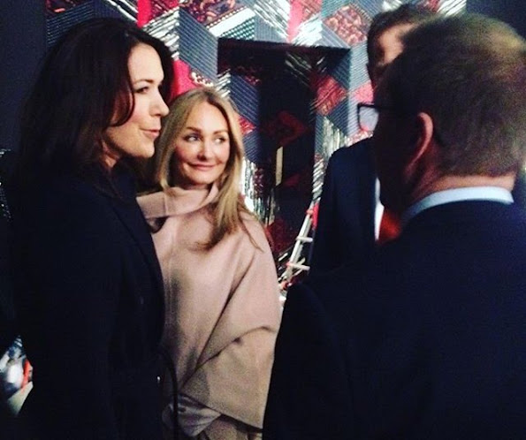 Crown Princess Mary of Denmark visited the opening of Copenhagen Fashion Week. Crown Princess also visited fashion designer Jesper Hovring at the Hotel D'Angleterre.
