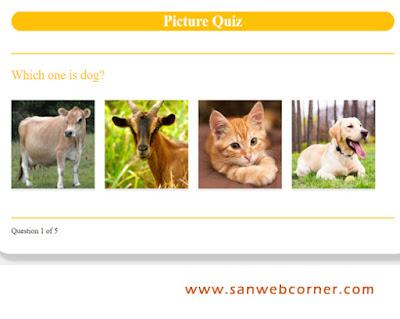 Picture Quiz using JavaScript