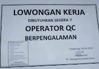 Lowongan Kerja PT Pancaprima Ekabrothers Tangerang 2021