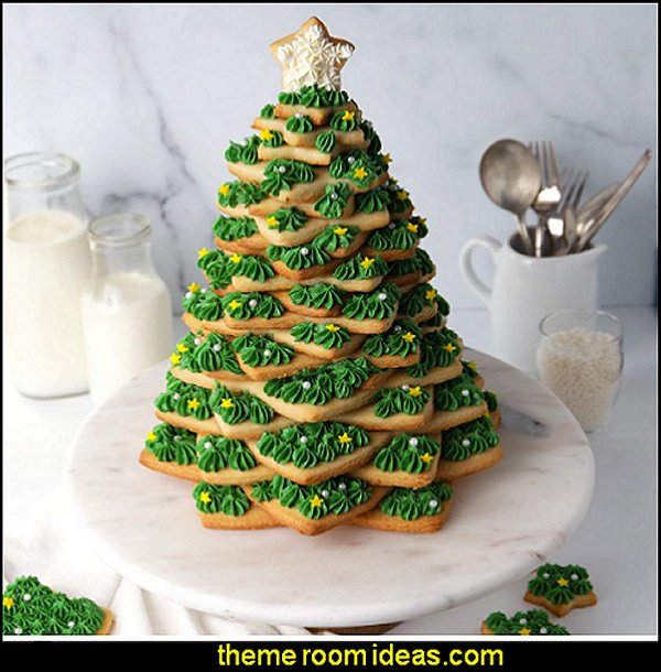 Christmas Tree Cookie Cutter Star Cookie Cutters Christmas Tree gift cookie tower