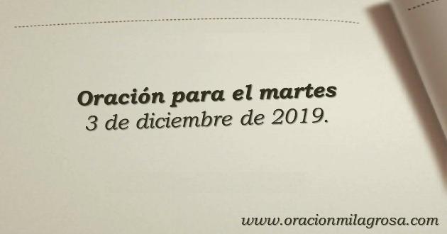 Oración Milagrosa Diciembre 2019