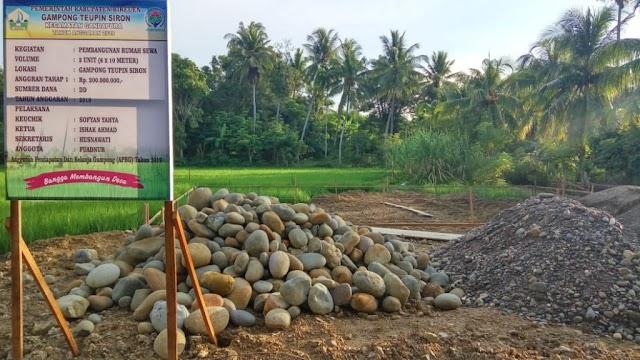 Pemerintah Gampong Teupin Siron Bangun Dua Unit Rumah Sewa