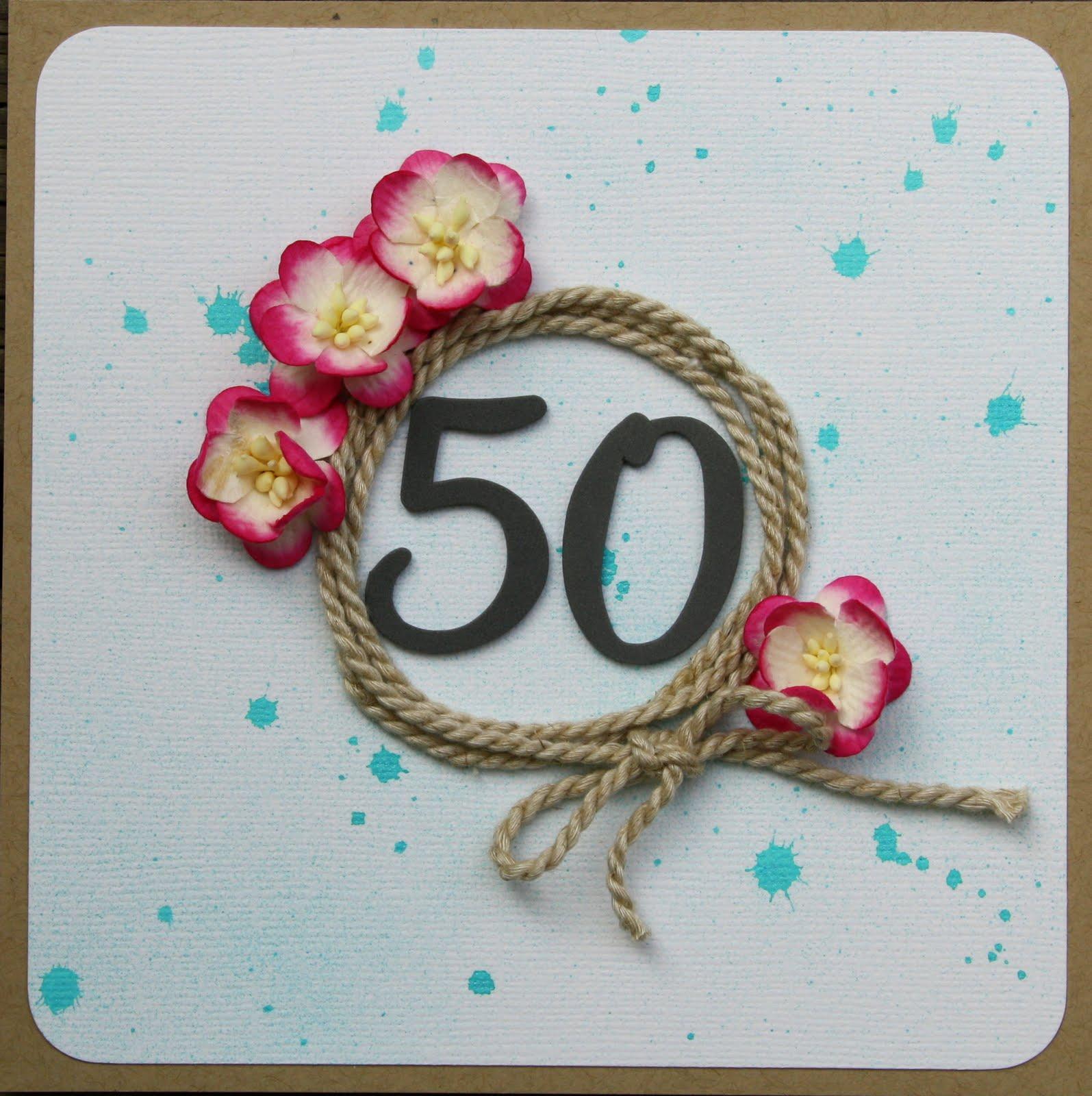 50 års kort Sara Kronqvist   Saras pysselblogg: 50 års kort 50 års kort