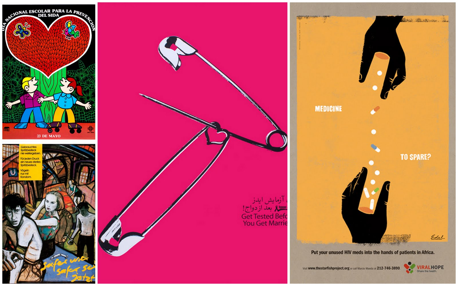 Kenneth Cole Sponsors AIDS Awareness Exhibit  Fashion Design Posters