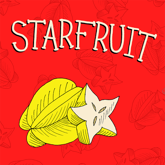 star fruit drawing