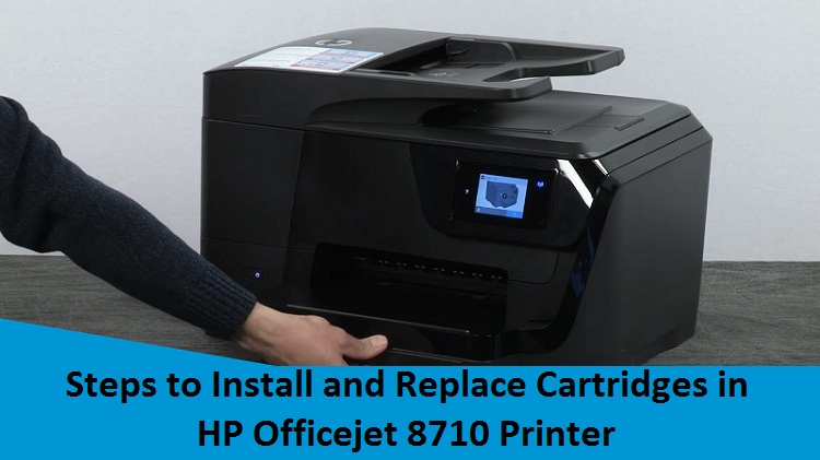 Install and Replace Cartridges in HP Officejet 8710 Printer