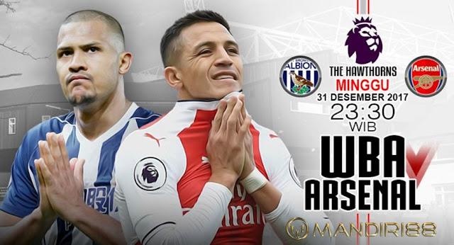 Prediksi Bola : West Brom Albion Vs Arsenal , Minggu 31 Desember 2017 Pukul 23.30 WIB