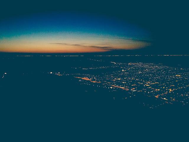 Vista noturna do Morro da Borússia