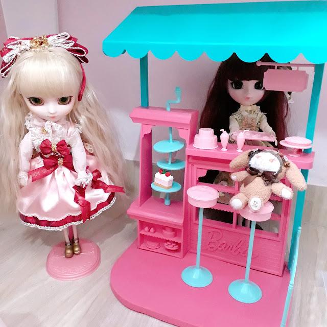 bonecas Pullip na Confeitaria da Barbie