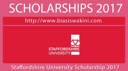 Staffordshire University Scholarship 2017