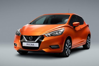 Nissan Micra 2017 orange colour image