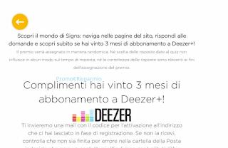 Logo Vinci anche tu gratis 80 abbonamenti Deezer Premium o voucher Scuolazooviaggi